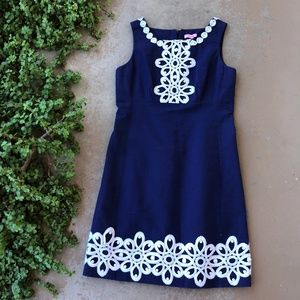 Lilly Pulitzer True Navy White Sheath Dress